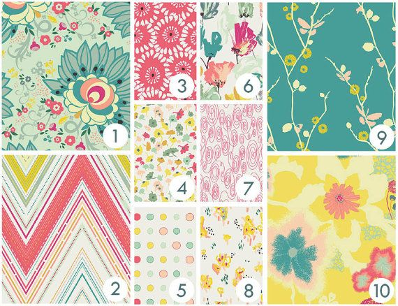 : ::Custom Baby Bedding by Happy Mae - You Pick The Fabrics!    Looking for modern baby bedding, but having trouble finding what you want? Work with me