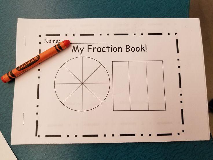 Fractions, Fraction booklet, naming fractions.