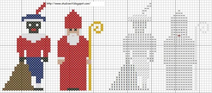 Sint Piet Cross Stitch Pattern
