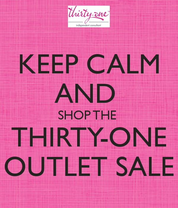 Thirty-One Outlet Sale is on NOW Dec 16-22 2014! https://www.mythirtyone.com/TOTEallyOrganizedMom/
