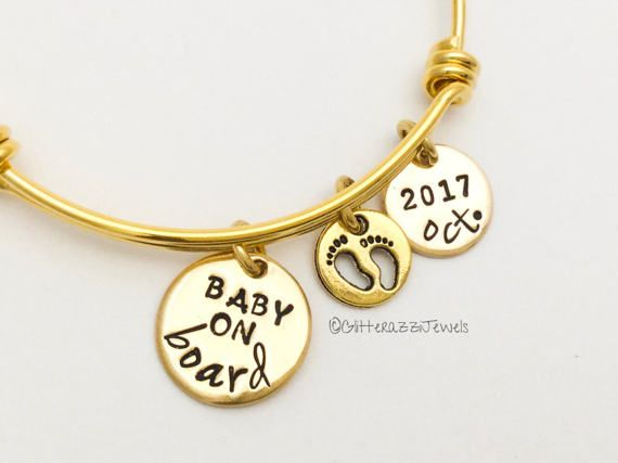 Expecting Mom Gift Gifts Expectant Mother Gold Bracelet New Mom Pregnancy Announcement Reveal Christmas Baby Feet Bracelet Expandable by glitterazzijewels. Explore more products on http://glitterazzijewels.etsy.com