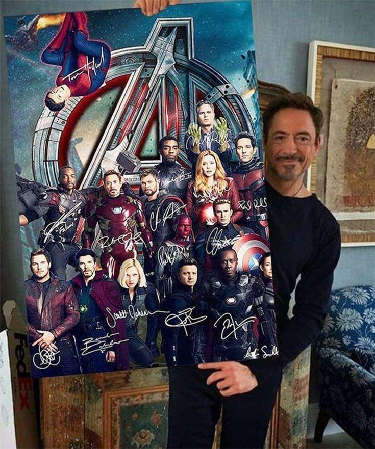 Постер с автографом роберта дауни младшего