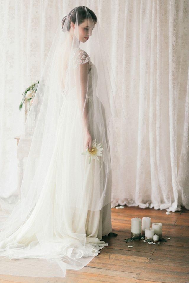 Sally Eagle Bridal: Marigold dress | Jenny Sun Photography | see more on: http://burnettsboards.com/2014/10/rustic-elegance/