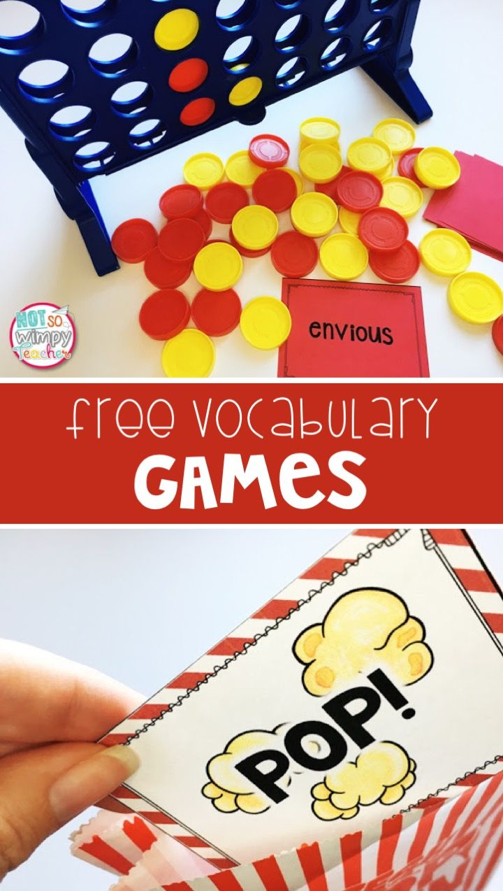 These free games can be played with ELA, math or science vocabulary games! Perfect for reading or math centers!