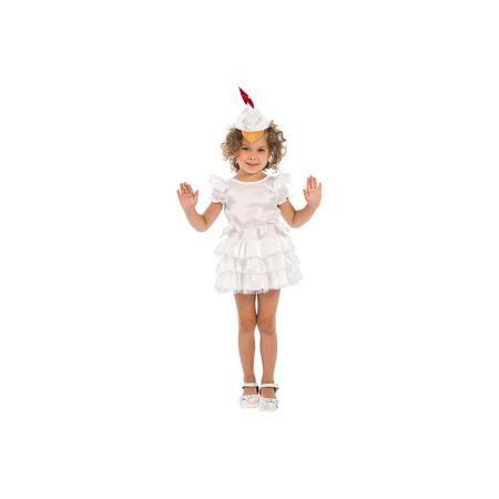 """Вестифика Карнавальный костюм для девочки """"Курочка"""", Вестифика  — 1539р.  Курочки и Петушки постоянные герои утренников в детском саду. Они всегда узнаваемы детьми, их любят рисовать, в них любят наряжаться. Именно поэтому мы придумали наш карнавальный костюм «Курочка». Он очень нежный и воздушный. Коротенькое белое платьице с классическими рукавами-крылышками и большим количеством оборок дополнено шапочкой с клювиком и гребешком, которая регулируется по ширине резиночкой. Сзади в области…"""