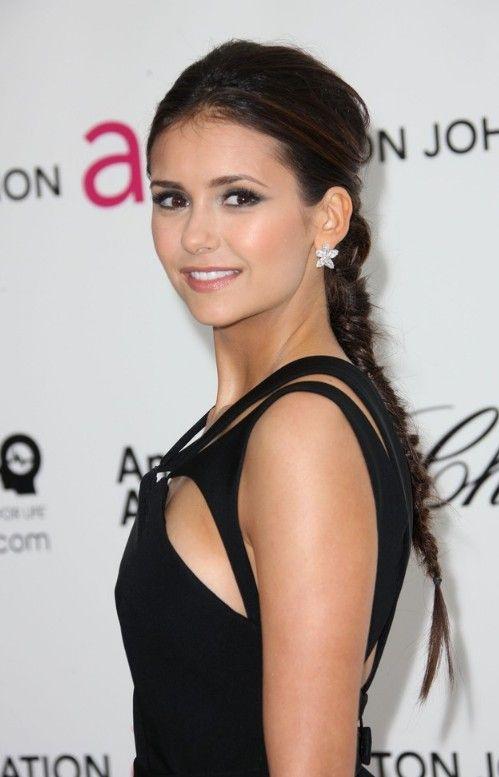 Fishbone Hair Braid Hairstyle for Long Hair - Nina Dobrev