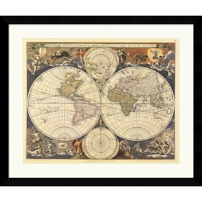 81 best cartography editors picks images on pinterest amanti art new world map century framed art print by ria visscher these types of old world maps are my absolute favorites sciox Gallery