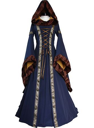 Mideval dresses were often cinched at the waist and corsets were worn.  The cloak or hooded cape was also a popular fashion statement back then.