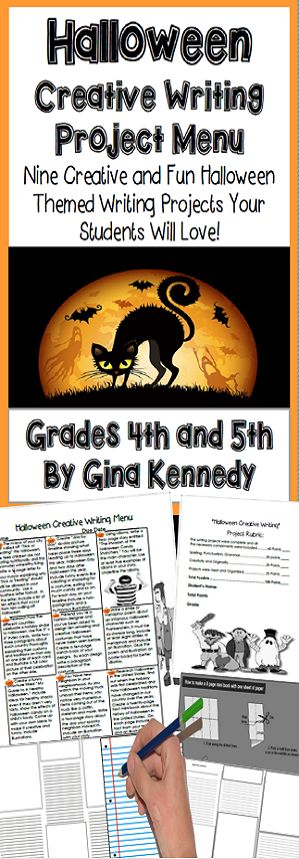 NO-PREP! Nine fun Halloween creative writing projects your students will love. Standards-based Halloween creative writing projects that range from writing a persuasive letter to the mayor, becoming a Halloween costume designer, researching Halloween, writing a simile/metaphor poem and much more! Print and go Halloween fun! $
