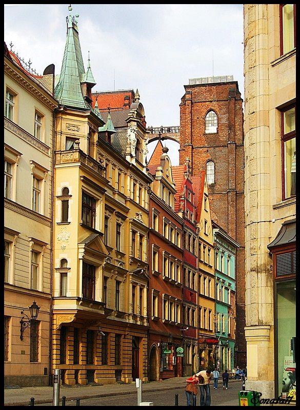 Street in Wroclaw - Wroclaw, Dolnoslaskie