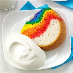 Rainbow Cake with Clouds Recipe from Taste of Home