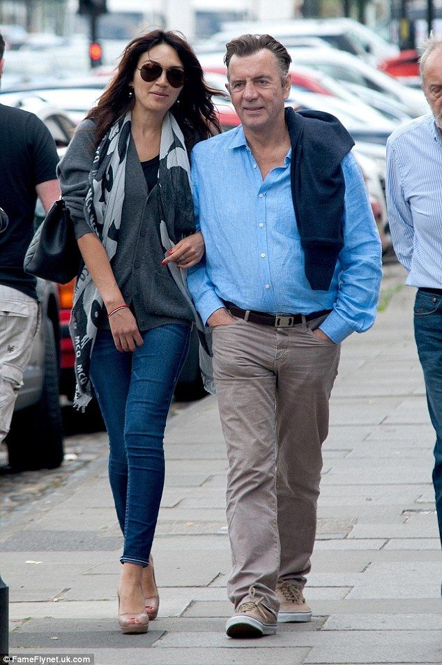 Duncan Bannatyne and Nigora Whitehorn enjoyed a romantic stroll around Yarm, North Yorkshire, in June