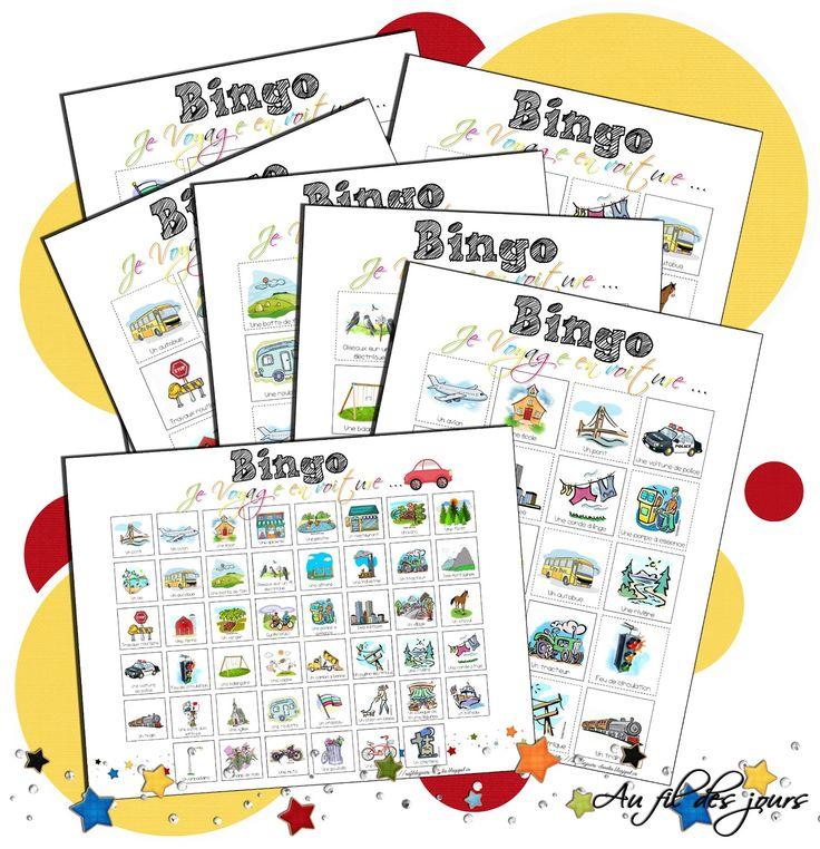 FREE / GRATUIT -Bingo pour les voyages en voiture - un excellent moyen d'occuper les enfants pendant un long trajet en voiture