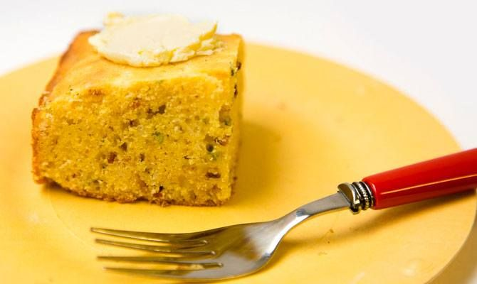 Cheddar-Scallion-Bacon Cornbread