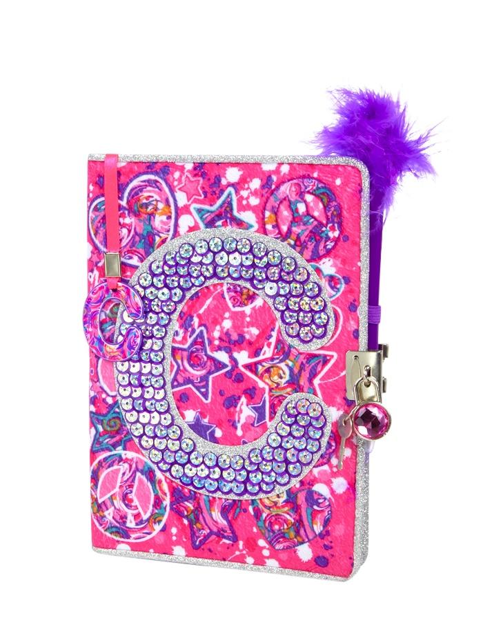 Sequin Swirl Initial Diary | Journals & Writing | Beauty ...
