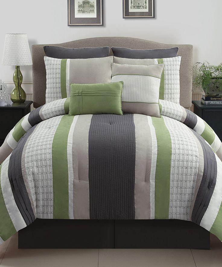Green Amp Gray Madison Comforter Set