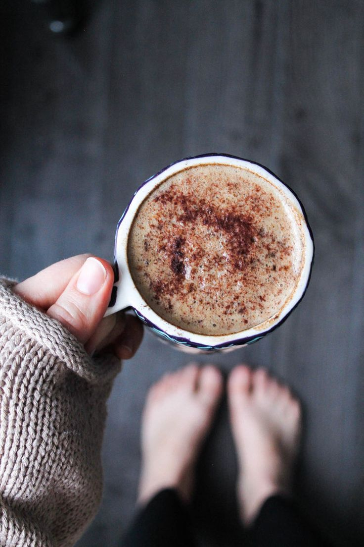 "Chicory Almond Milk Latte || Simple and delicious chicory and cardamom ""coffee"" drink. Caffeine free and vegan. Perfect for a cozy night or rainy day! 