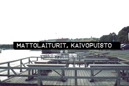 Carpet washing platforms / Mattolaituri / Kaivopuisto / Helsinki