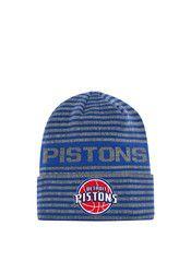 Adidas Detroit Pistons Grey 2016 Team Cuffed Knit Hat