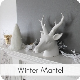 My Sister's Suitcase: Winter Mantel {and Fur Tree Tutorial}