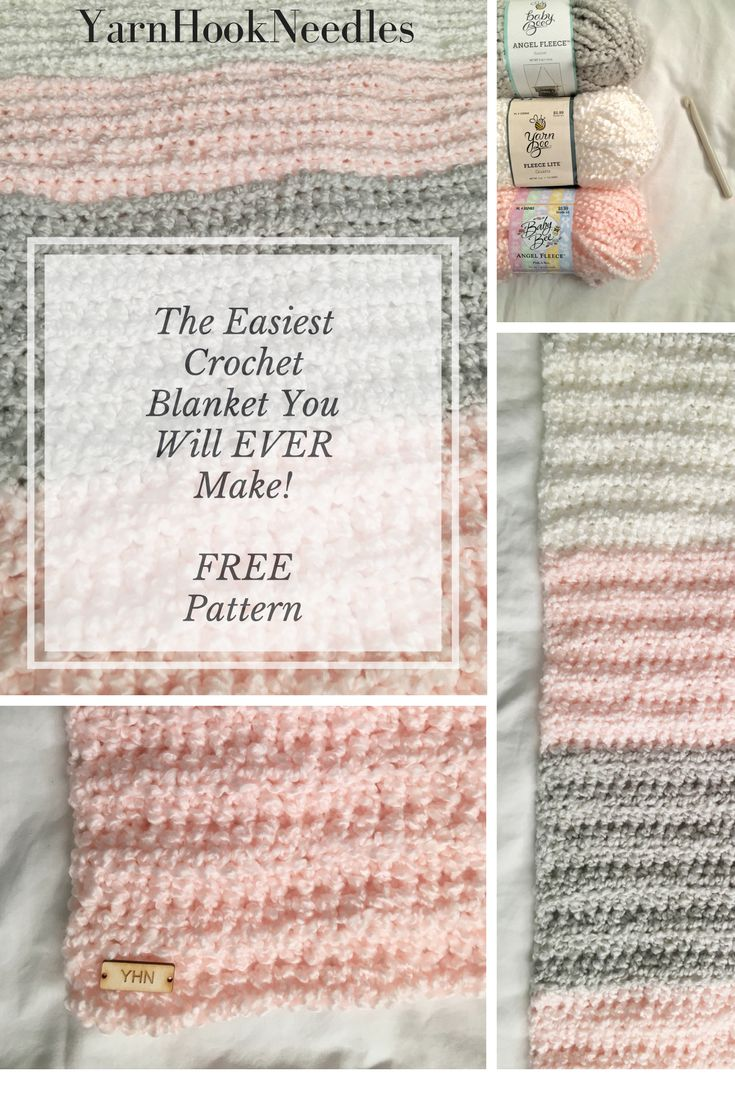 Looking for an easy beginning crochet project? Check out this easy crochet blanket pattern for FREE! You will love this for your next project!