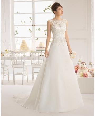 A-linie Schlichte Brautkleider 2015 aus Satin Spitze