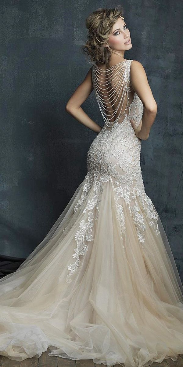low back lace vintage bridal gowns