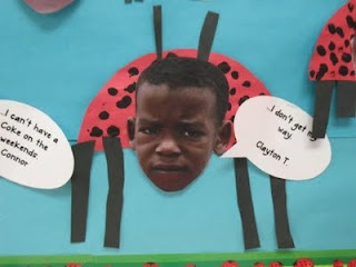 The Bad-Tempered Ladybird by Eric Carle.    Love this activity - so cute! The book is great for so many different activities - speech marks/bubbles, expression when reading, time, length/measurement, minibeasts/animals themes, etc. etc..