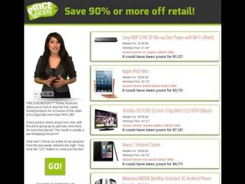 PRICE BENDERS Tripleclicks Online Penny Auction Bid & Win Hot, Name Brand Products up to 90% OFF