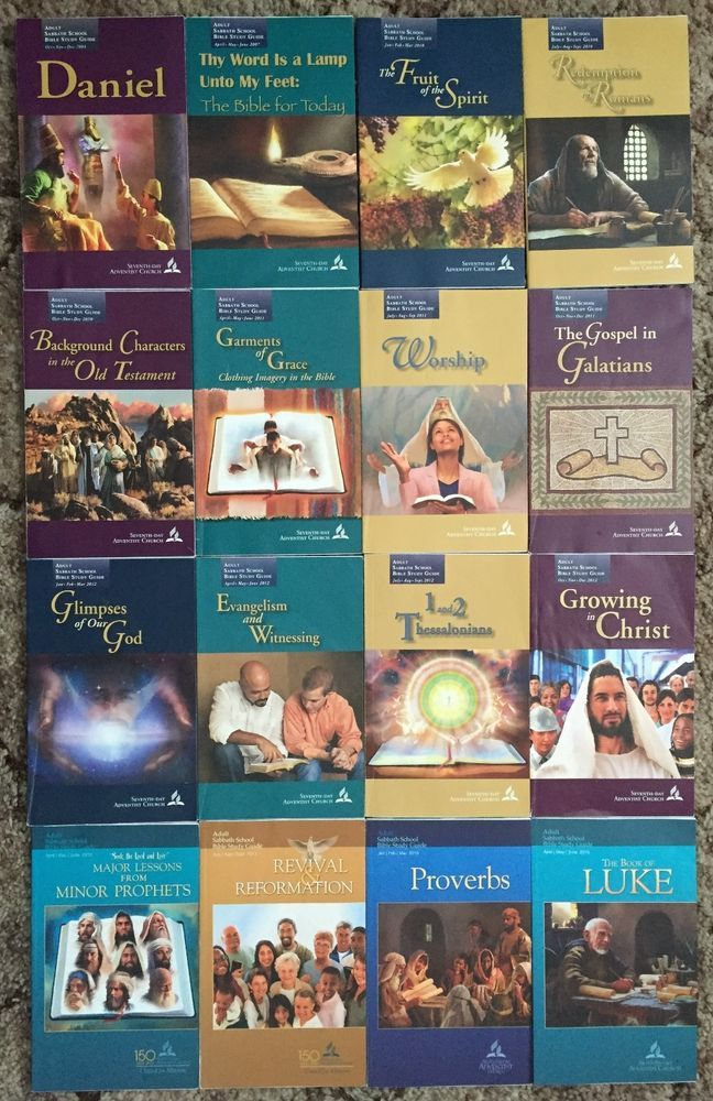 Lot of 16 Seventh-day Adventist SDA Sabbath School Lesson Studies Quarterlies