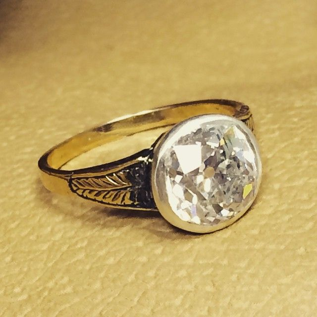 This early 19th century ring has been graciously donated to charity by the vendor, mounted with a 2.88ct, G colour, P1 old-cut diamond it's not one to be missed! Lot 123 in our forthcoming 23rd April Jewellery sale #fellows #auctions #diamond #ring #jewellery