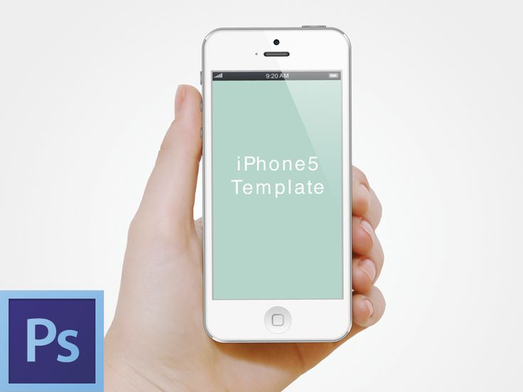 hand with iphone5 template psd mobil design pinterest - Iphone 5s Mockup Free