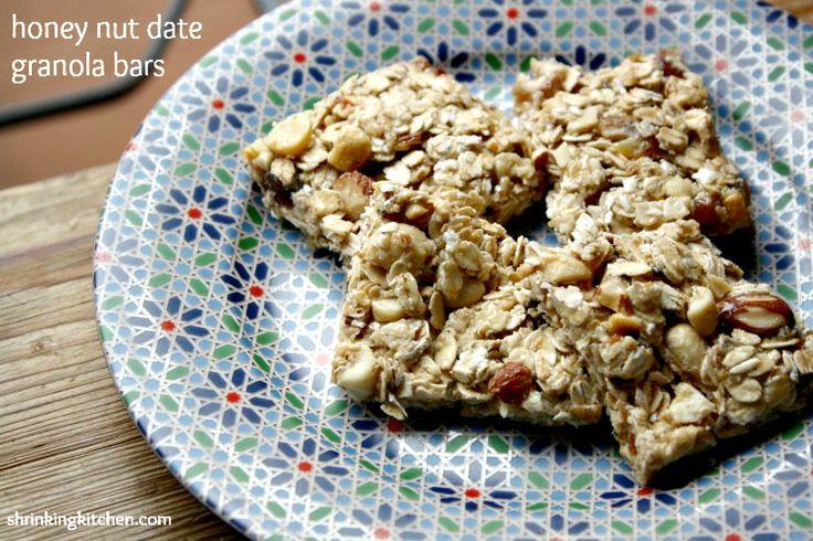 Honey Nut Date Granola Bars | Recipe