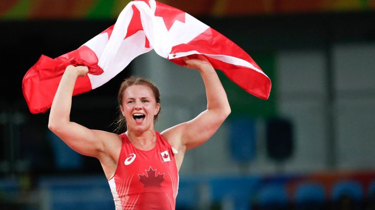 Justin Trudeau (@JustinTrudeau) | Twitter--------A Canadian champion at 75kg! Congrats @ericawiebe on winning #wrestling #gold in Rio!