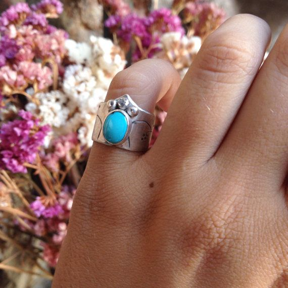 Chevalier Turquoise St. Silver Ring by MARJewellery on Etsy