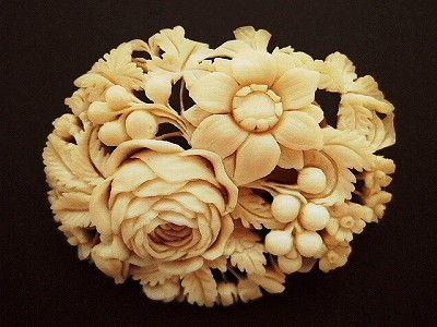 Vintage ivory brooch