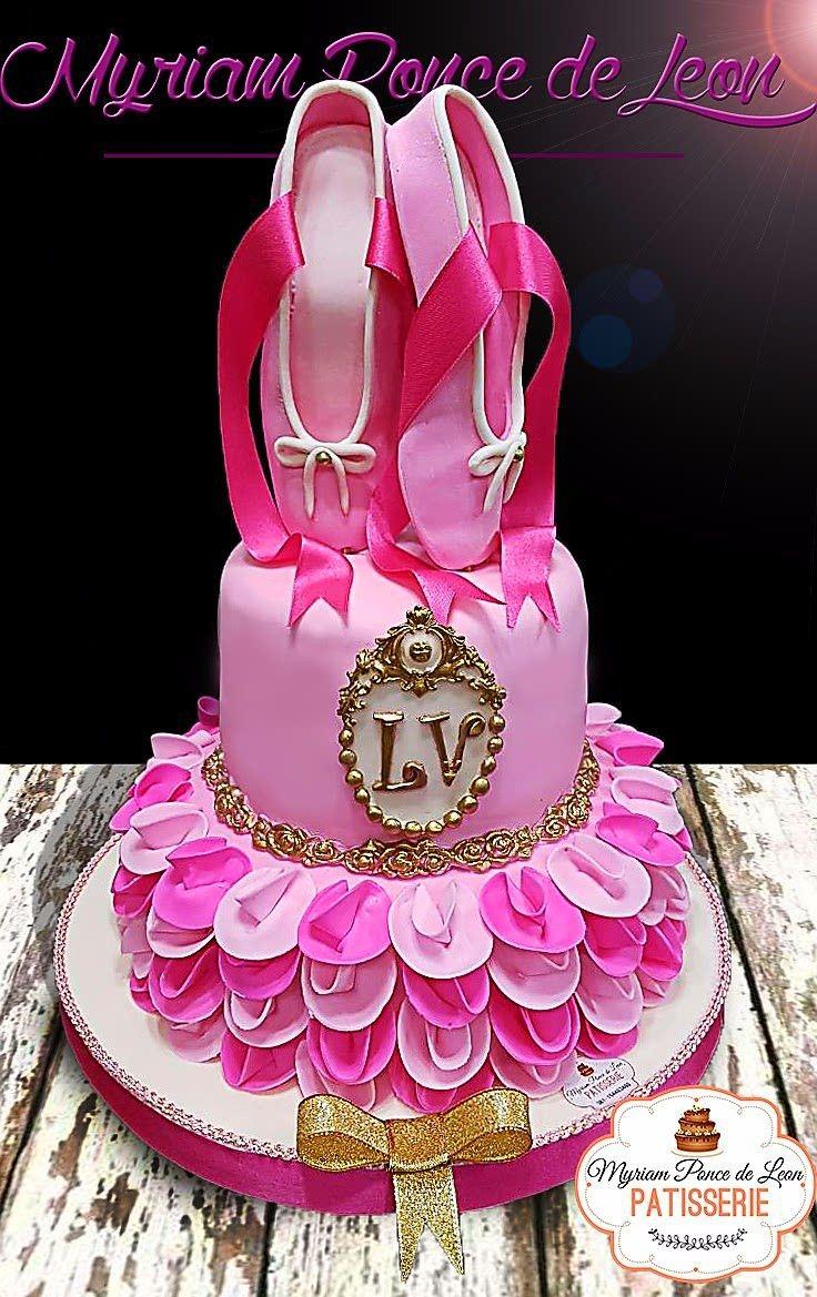 Torta zapatillas de ballet realizadas en azúcar