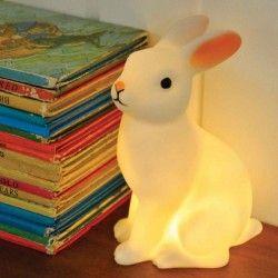 Veilleuse lapin pour décoration chambre bébé - piles -15 cm - Rex
