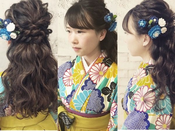 ハーフアップ 袴 卒業式 ヘアスタイル 袴 ヘアスタイル ハーフアップ 卒業式 髪型
