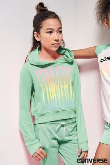 Converse Green Ombre Cropped Hoody
