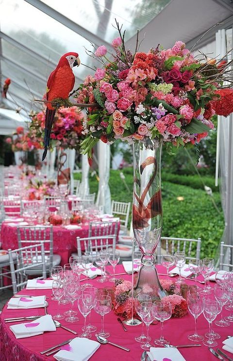 57 Cheerful Tropical Wedding Table Settings & 54 best Tropical Wedding Table Settings images on Pinterest ...