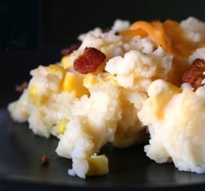 """Mashed Potatoes With Corn & Cheese: """"It's a great dish to make in the summer because you cook the potatoes in the microwave and don't heat up the house."""" -NifFood Com, Corn Recipes, Cheese Recipe, Corn Mashed, Corn Cheese, Mashed Potatoes, Cheesy Corn, Chees Recipe, Eating"""