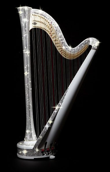 Crystallized Harp with Swarovski  rhinestones. Now THAT's heaven!  Versace Home Abu Dhabi.  www.harmanbeads.com