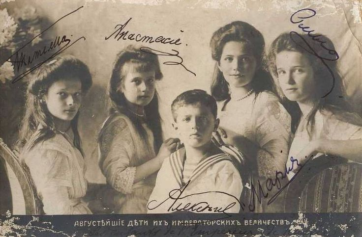 A signed photograph of the children in 1910.: Romanov History, Imperial Russia, Eur Russiaroyalty Romanov, Children, Remember Romanow, Russian Royal, Nikolaevna Romanova