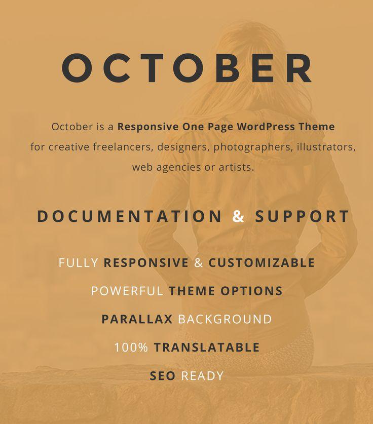 Vedi il mio progetto @Behance: \u201cOctober - Responsive One Page WordPress Theme\u201d https://www.behance.net/gallery/49952685/October-Responsive-One-Page-WordPress-Theme