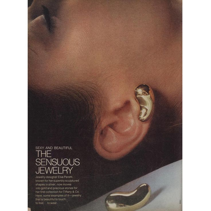 Elsa Peretti Teardrop Earrings, Harper's Bazaar 1974