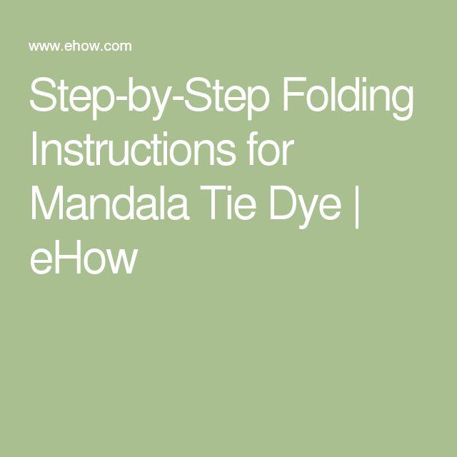 mandala tie dye instructions