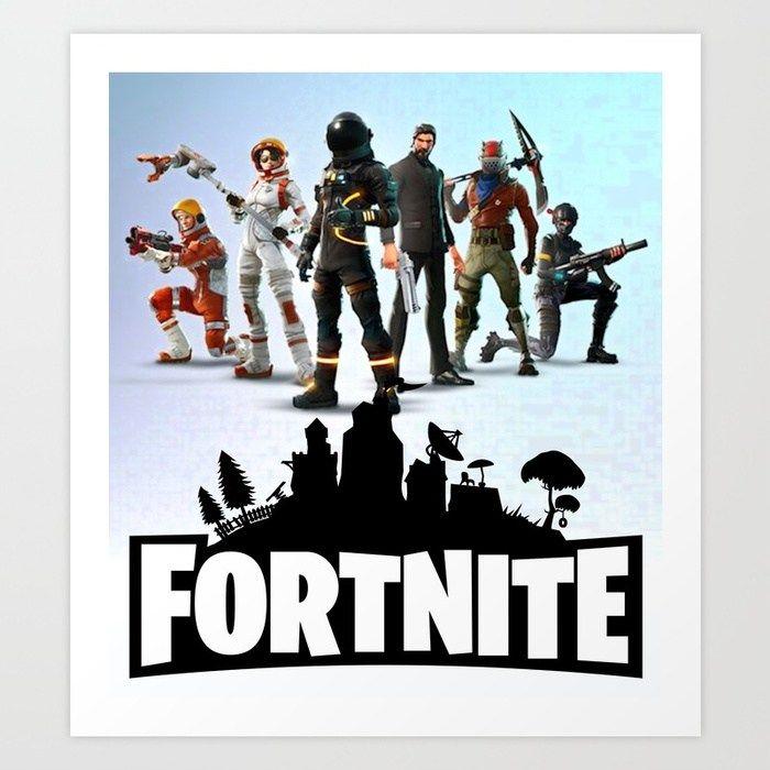 Buy Fortnite Game Art Print Background Logo Artwork Kid Gift Design Graphic Fortnite Fortnitegame Tshirt Wallpaper Toile Background Jeux Jeux Fille Garcon