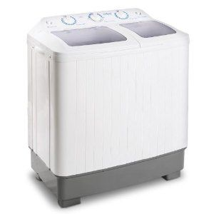 Klarstein MNW-DB4 camping washing machine with spinner for students, singles with 5.8 kg wash capacity and 2 wash programs best offer | mini washing machine
