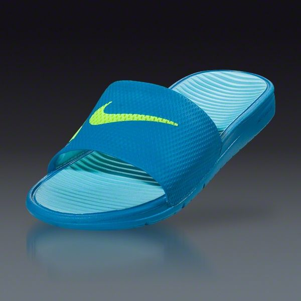 Nike Benassi Solarsoft Slide - Neptune Blue/Tide Pool Blue/White/Volt  Sandals